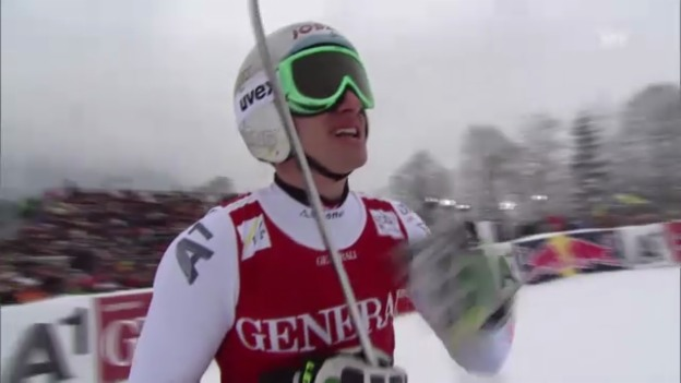 Video «Ski alpin: Mayers Super-G-Fahrt in Kitzbühel («sportlive»)» abspielen