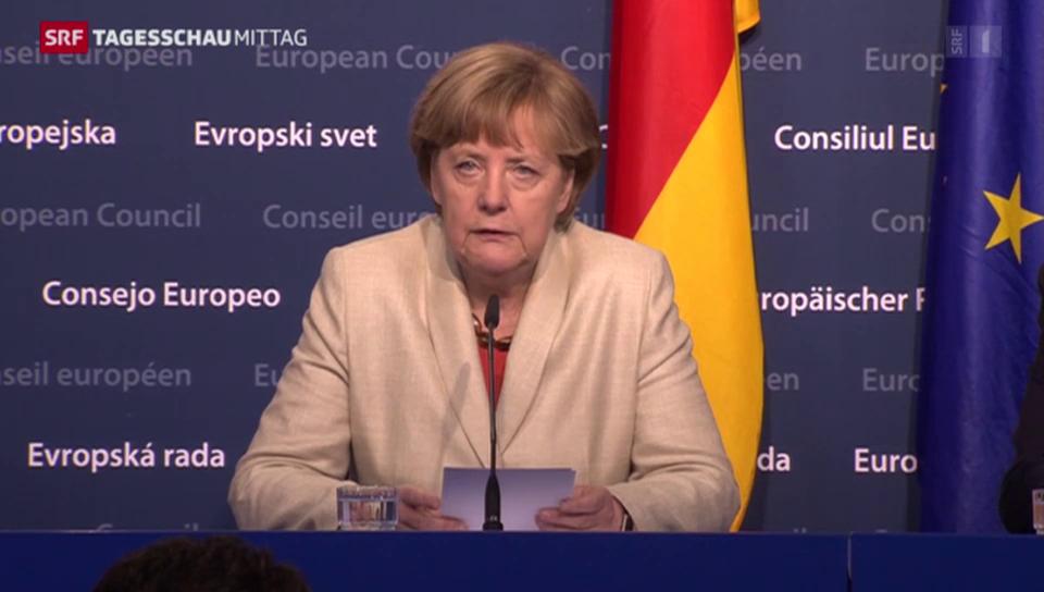 Merkel: «Geld darf hier keine Rolle spielen»