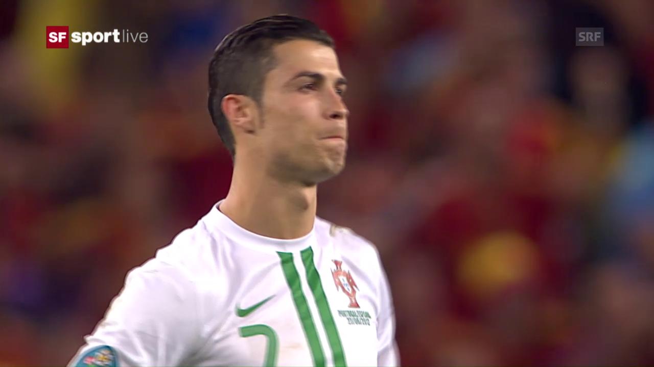 Portugal verliert 2012 das Penaltyschiessen gegen Spanien