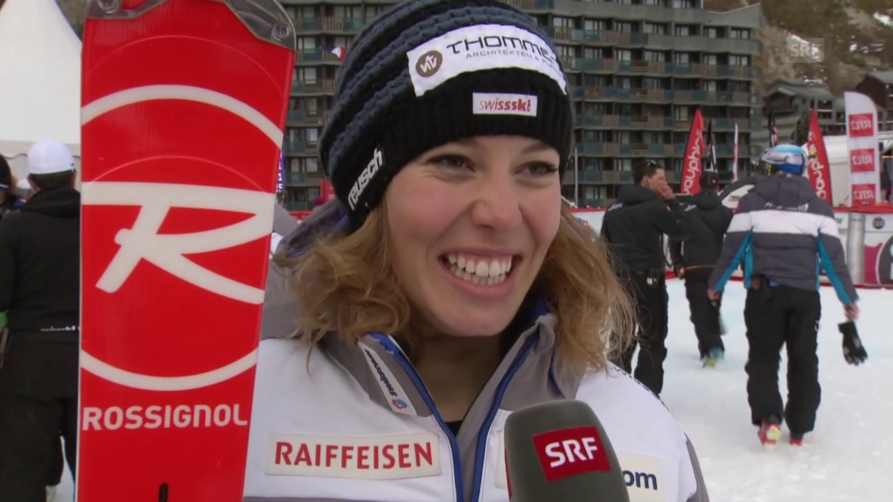 Ski: Michelle Gisin in Val d'Isere im Interview