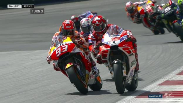 Video «Motorrad: Das MotoGP-Rennen in Österreich» abspielen