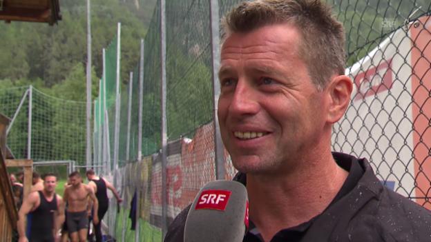Video «Fussball: GC-Trainer Skibbe vor dem Saison-Start» abspielen