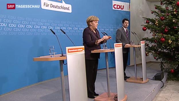 Video «Rätselraten in der grossen Koalition in Deutschland zu Ende» abspielen