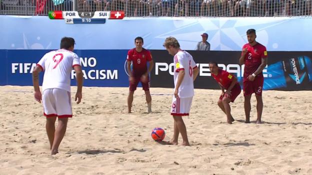 Video «Beachsoccer: Portugal - Schweiz, 4:2 Schweiz» abspielen