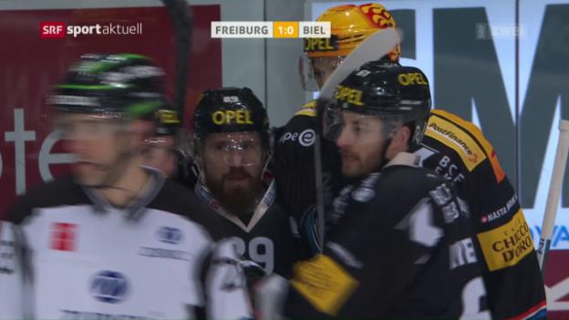 Video «Freiburg schickt Ambri auf den letzten Platz» abspielen