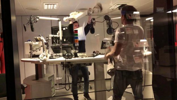 Video «Andreas Moser beobachtet die Radiozwerge» abspielen