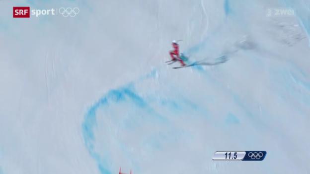 Video «Ski: Schweizer im Super-G geschlagen» abspielen