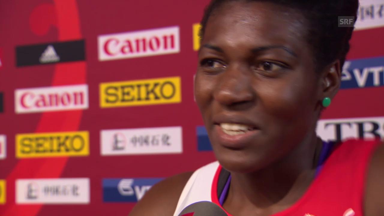 Leichtathletik: WM 2015 in Peking, Siebenkampf, Valerie Reggel nach dem Tag 1