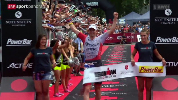 Video «Triathlon: Ironman Switzerland in Zürich» abspielen