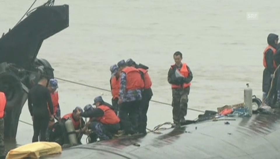 Rettungsarbeiten unter schwierigen Bedingungen (Originalton)
