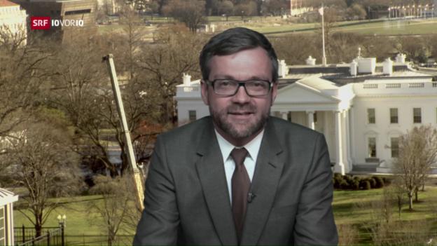 Video «Live-Schaltung zu Peter Düggeli in Washington» abspielen