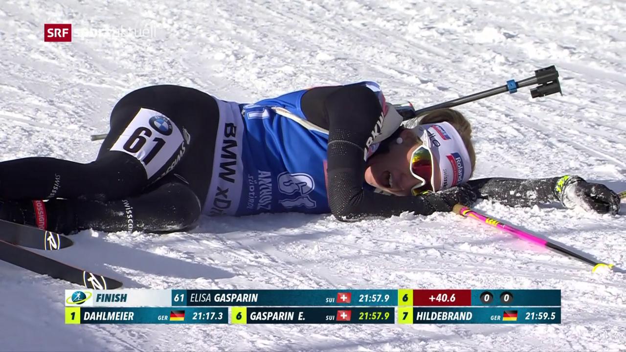 Elisa Gasparin realisiert in Antholz ihr Karriere-Bestergebnis