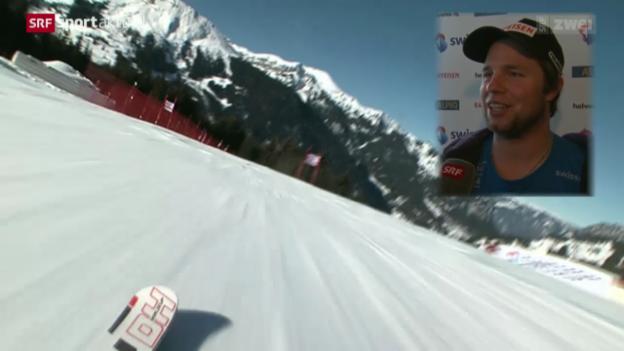 Video «Ski: Die Fahrt auf der Lauberhorn-Strecke» abspielen