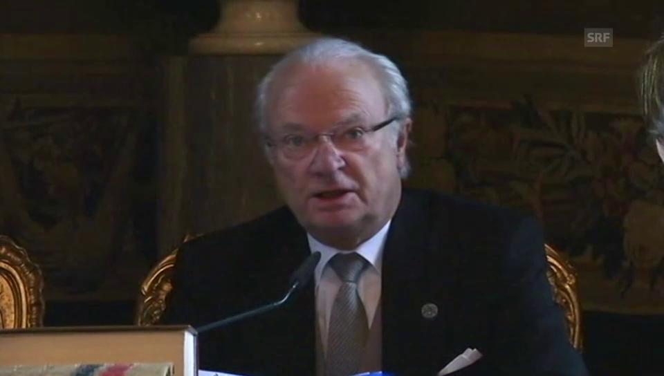 Carl Gustaf verkündet den Namen