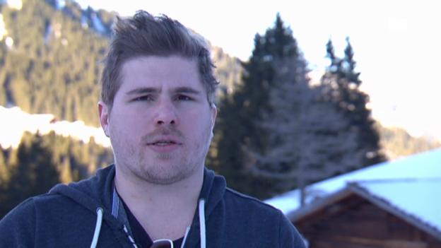 Video «Anthony «Bighead» Ackermann, der geborene Schanzenspringer» abspielen