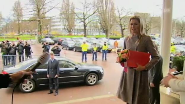 Video «Prinzessin Máxima über ihre künftige Stellung als Königin» abspielen