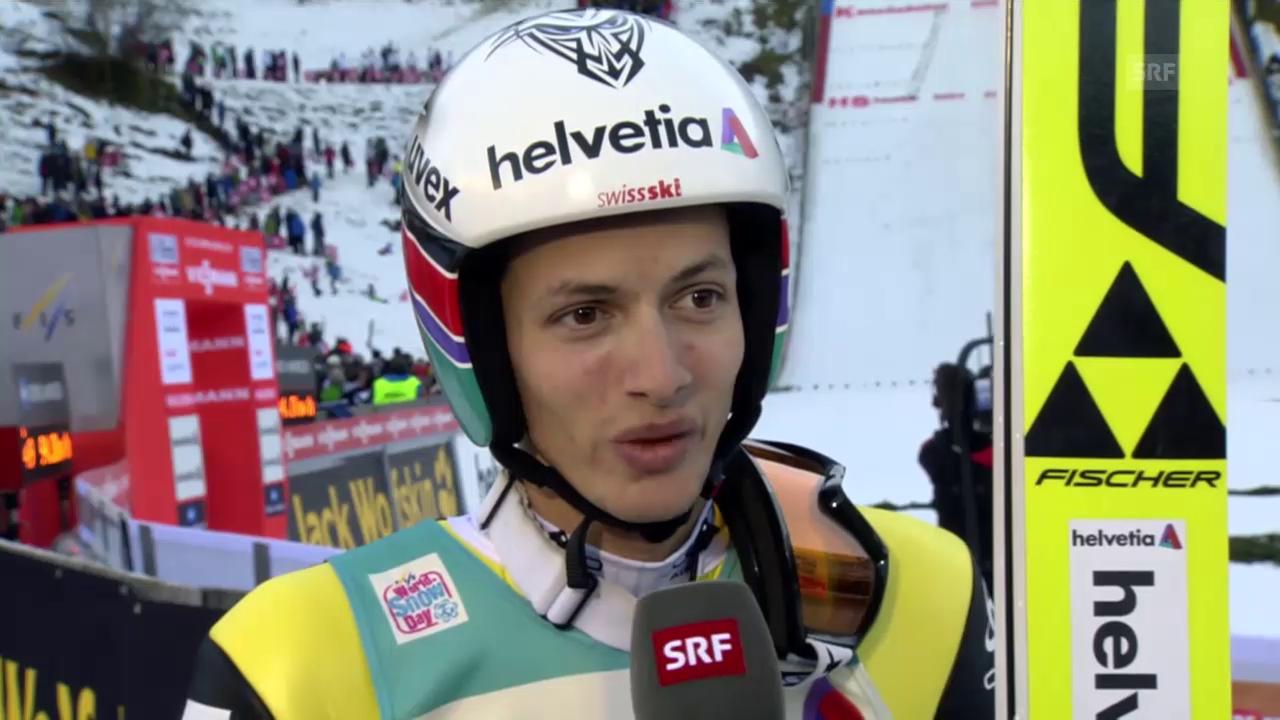 Skispringen: Weltcup Engelberg, Interview Deschwanden