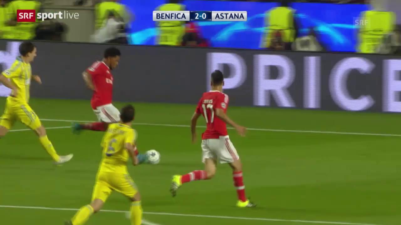 Fussball: Champions League, Zusammenfassung Benfica Lissabon - Astana