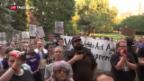 Video «Ein Jahr nach Charlottesville: Proteste von links und rechts» abspielen
