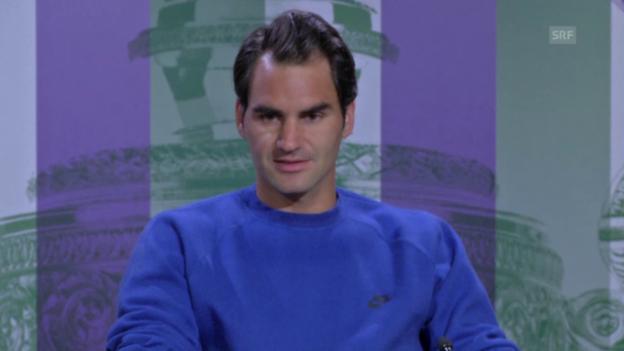 Video «Tennis: Federer vor dem Wimbledon-Start» abspielen