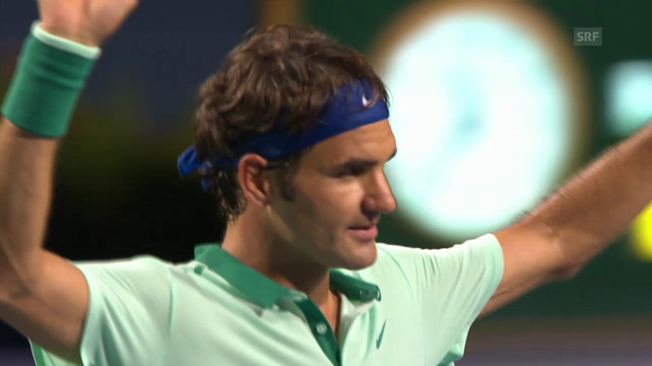 Tennis: Viertelfinal Toronto, Federer - Ferrer: Die wichtigsten Ballwechsel