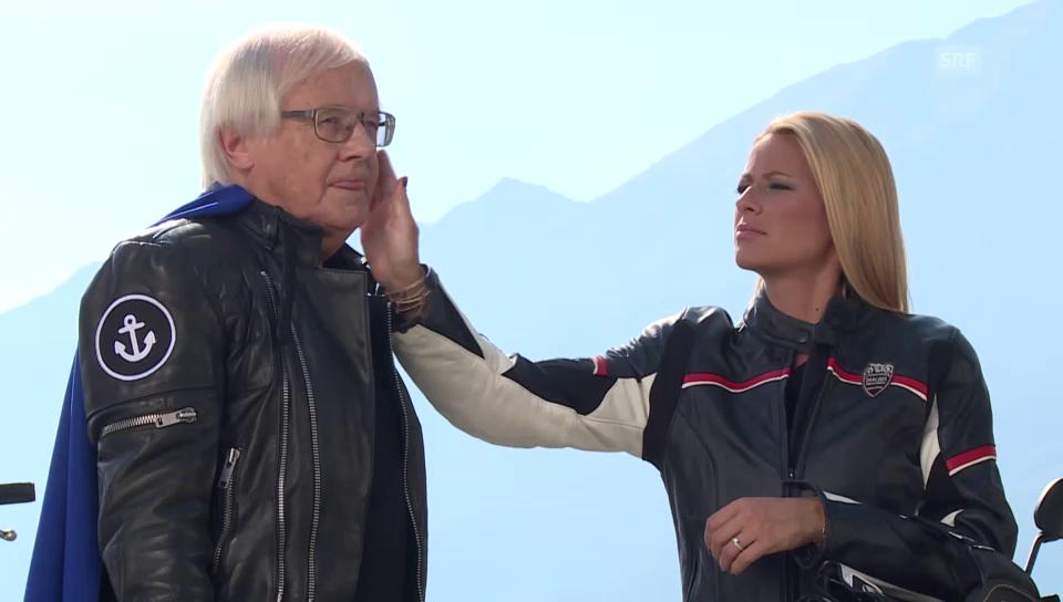 Gilbert Gress und Christa Rigozzi werben für die Sonnenstube