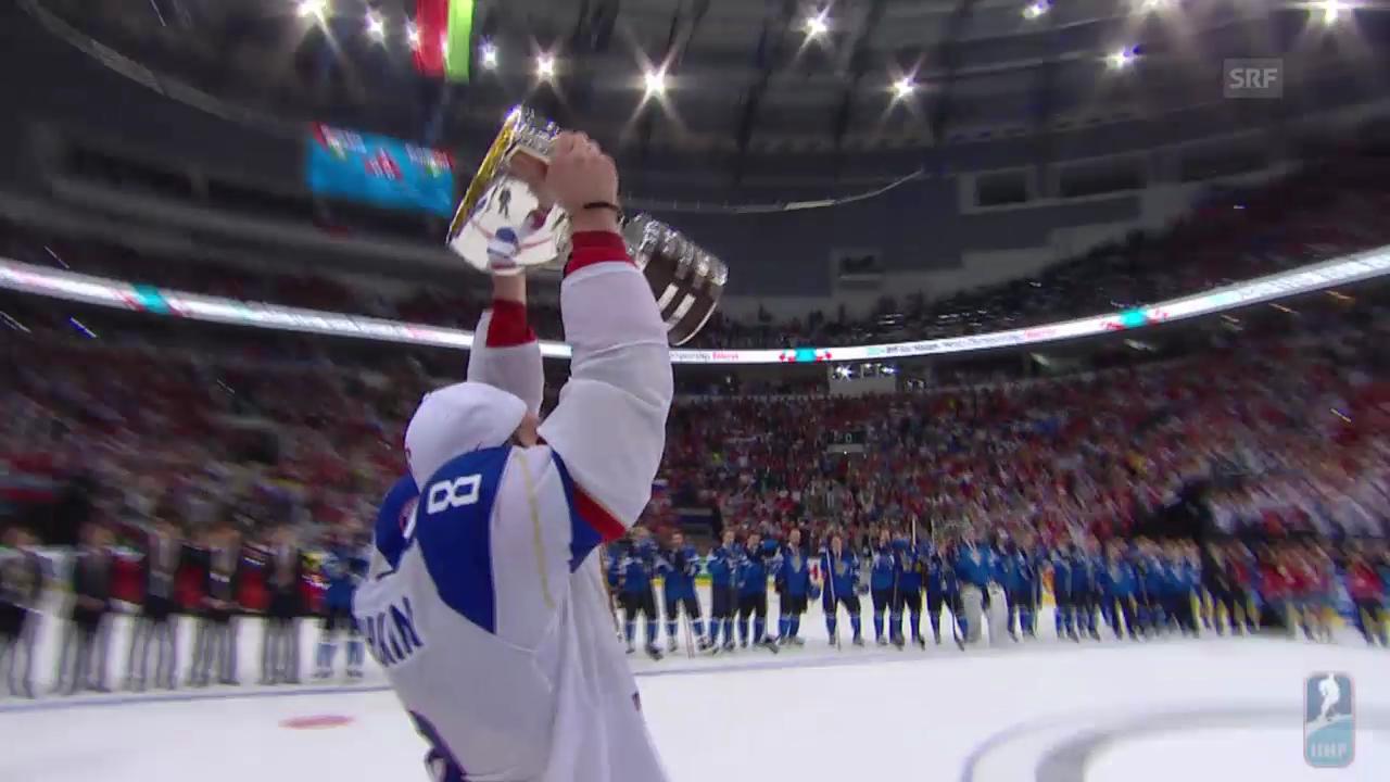 Eishockey, WM in Minsk: Pokalübergabe Russland