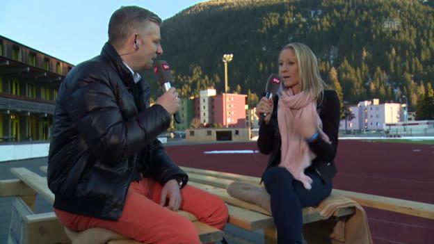 Video «Eishockey: Daniela Ryf im Interview, 2. Teil» abspielen