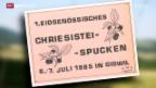 Video «Serie «Urchige Schweizer Sportarten» – Chriesistei-Spucke» abspielen