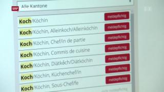 Video «Erste Bilanz zur Stellenmeldepflicht» abspielen