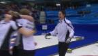 Video «Curling: Entscheidende Steine im Final Schweiz - Kanada» abspielen