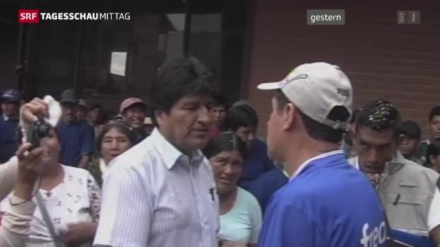 Video «Bolivianer wollen keine vierte Amtszeit für Morales» abspielen