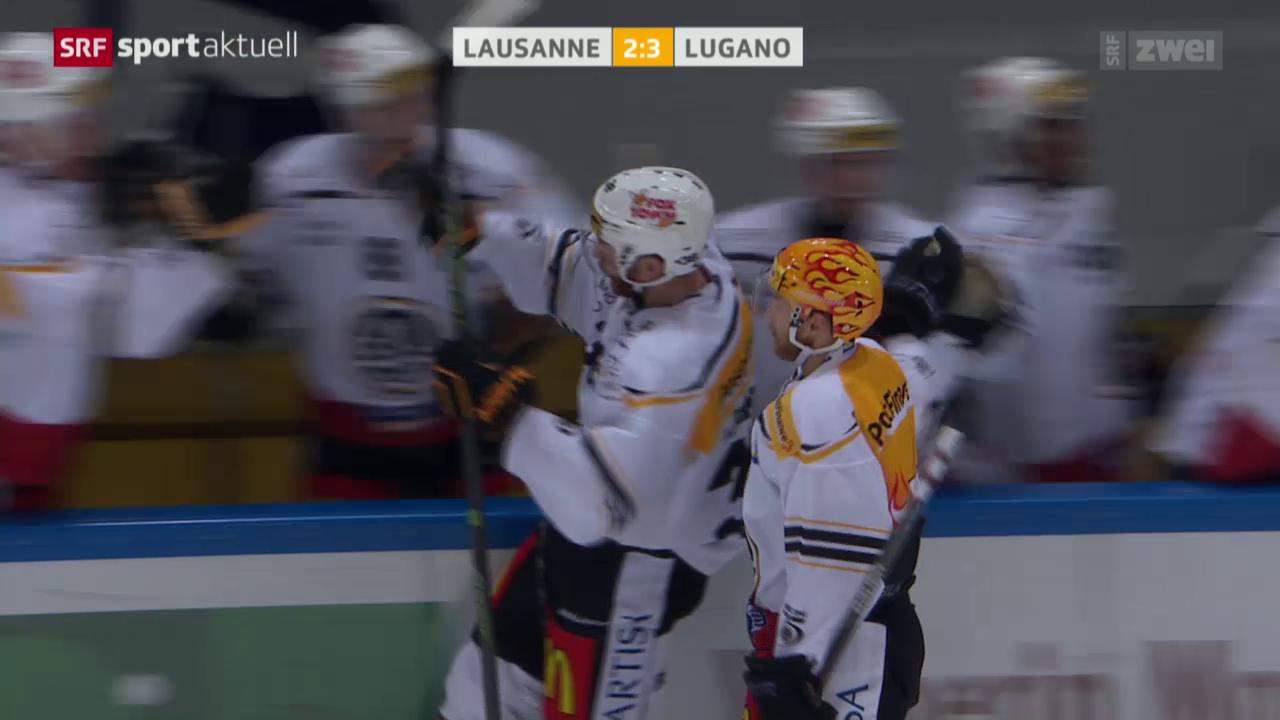 Eishockey: NLA, Lausanne-Lugano