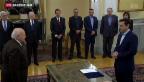 Video «Tsipras fordert Reparationszahlungen für Naziverbrechen» abspielen