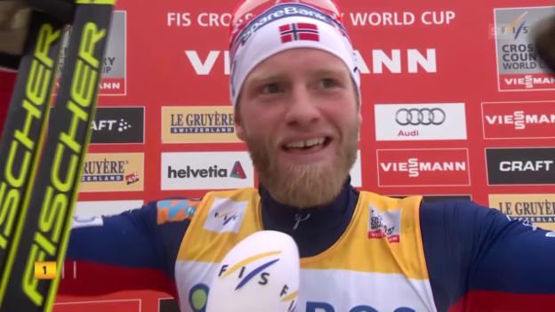 Video «Langlauf: Interview Sundby» abspielen