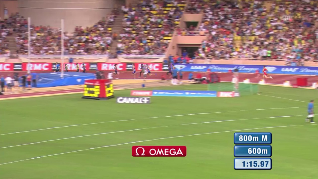 Leichtathletik: Diamond League Monaco, Tukas Schlusssprint über 800 m