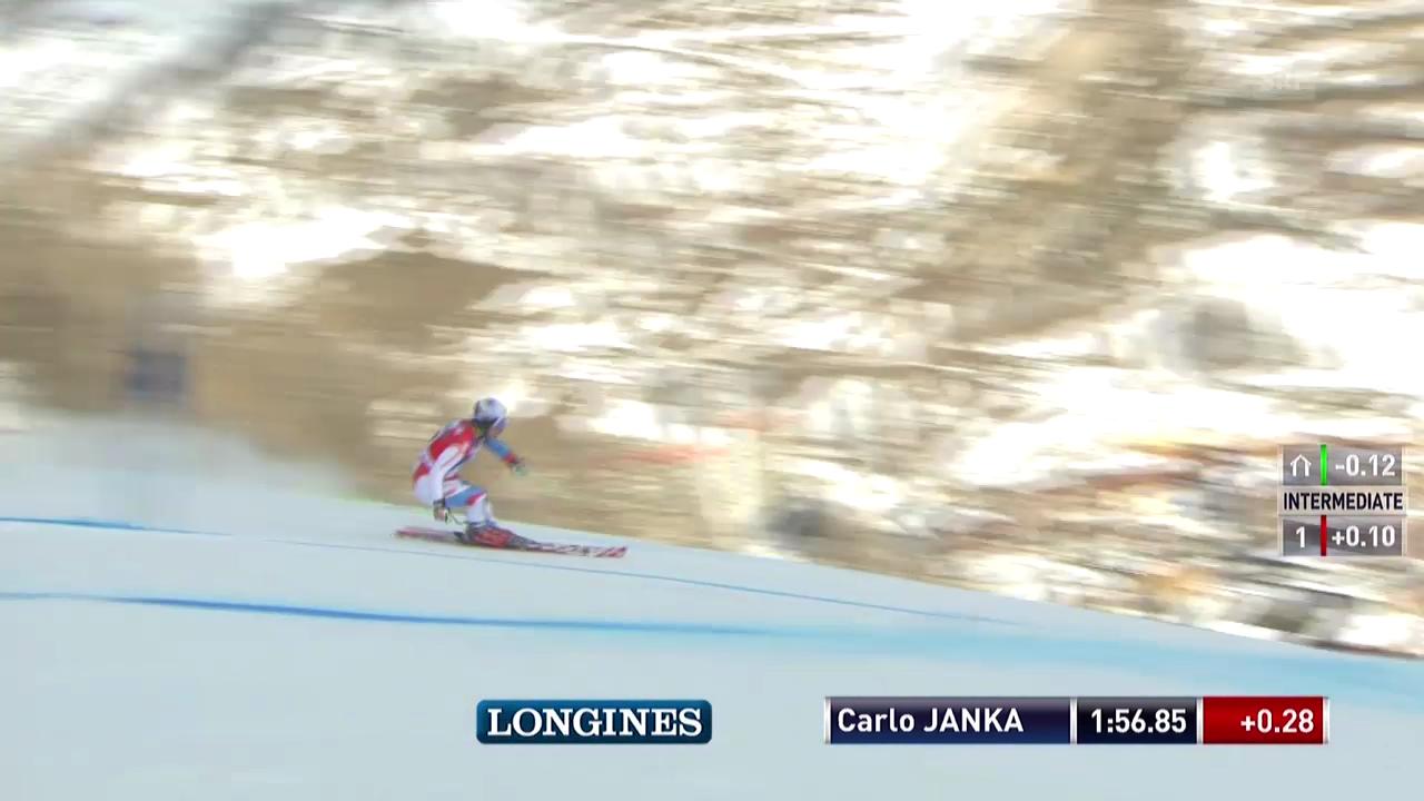 Ski alpin: Riesenslalom Männer Val d'Isère, 2. Lauf Carlo Janka («sportlive», 14.12.2013)