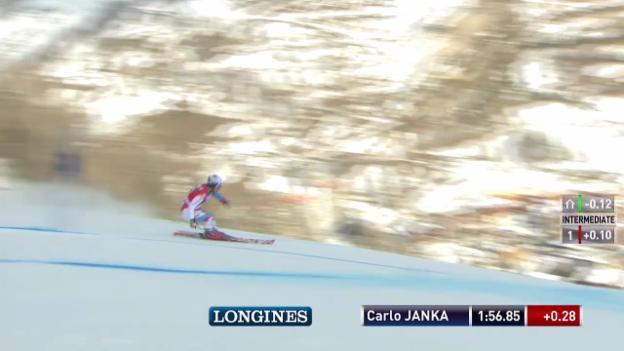 Video «Ski alpin: Riesenslalom Männer Val d'Isère, 2. Lauf Carlo Janka («sportlive», 14.12.2013)» abspielen