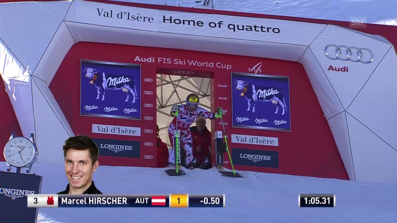 Ski alpin: Riesenslalom in Val d'Isère, 2. Lauf von Marcel Hirscher
