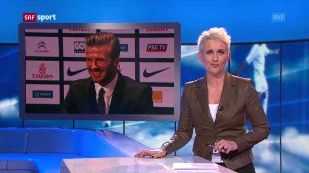 Video «Beckham wechselt zu PSG» abspielen