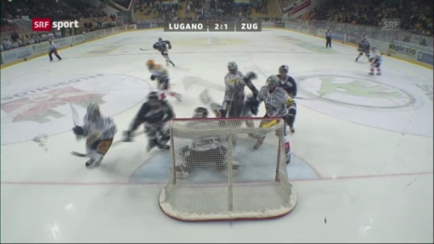 Video «NLA-Playoffs: Lugano - Zug» abspielen