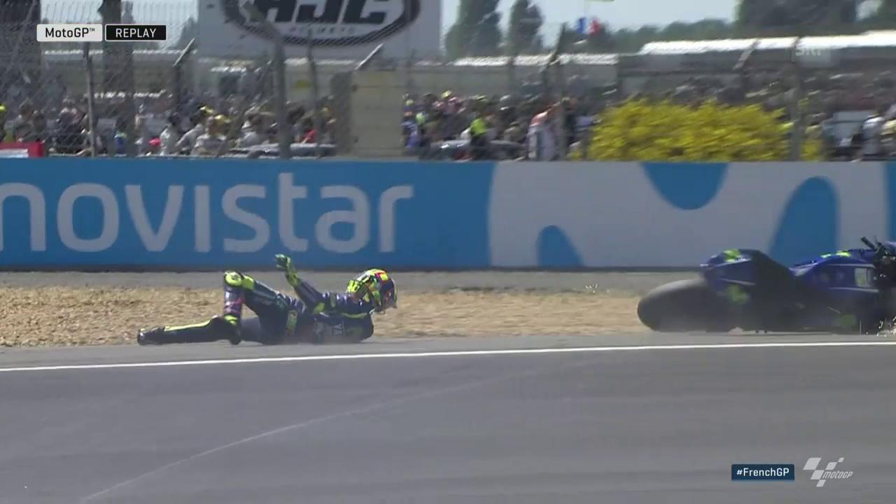 Der Sturz von Rossi