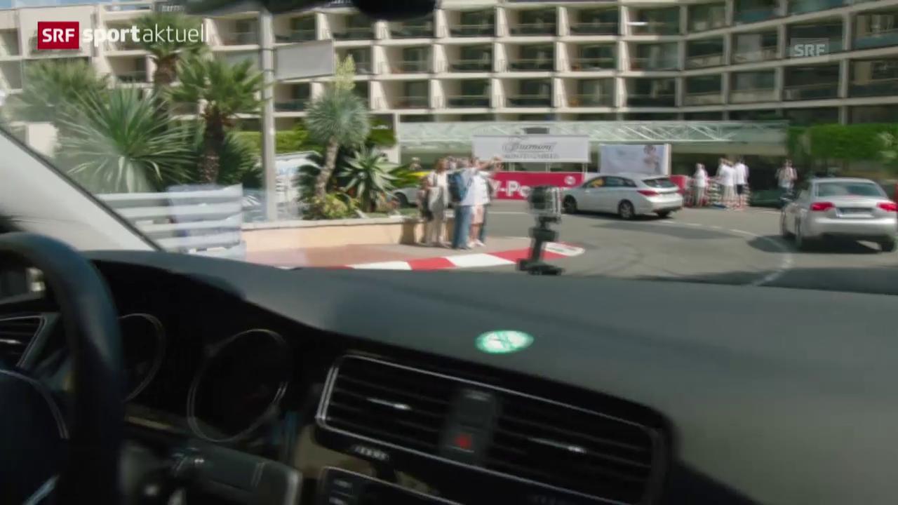 F1: Die Rennstrecke von Monaco bei normalem Verkehr