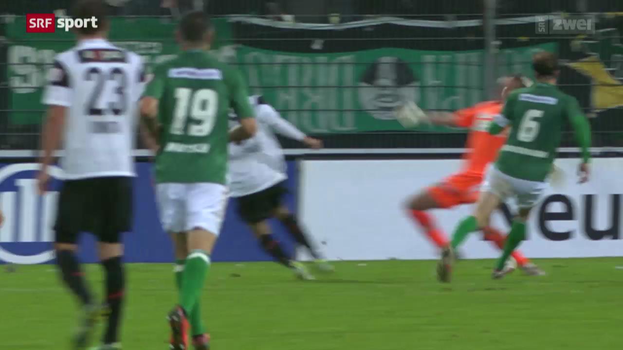 Fussball: Aarau - St. Gallen