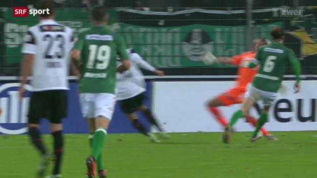 Video «Fussball: Aarau - St. Gallen» abspielen
