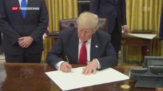 Video «Trump unterzeichnet Dekret gegen Obamacare» abspielen
