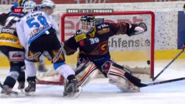 Video «Eishockey: Gamaches Skorerpunkte in Spiel 2» abspielen