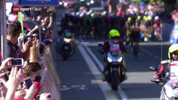 Video «Pibernik wähnt sich am Giro als Tagessieger» abspielen