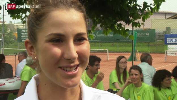 Video «Tennis: Interclub mit Belinda Bencic» abspielen