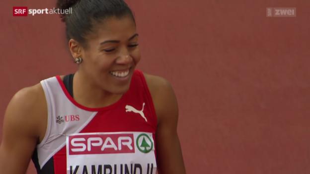 Video «Leichtathletik: Die Schweizerinnen und Schweizer an Tag 3» abspielen